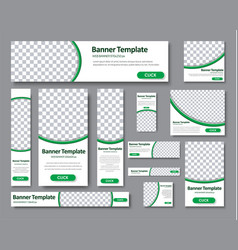 set of horizontal vertical and square web banners vector image vector image