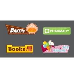 Shop signboard vector image vector image
