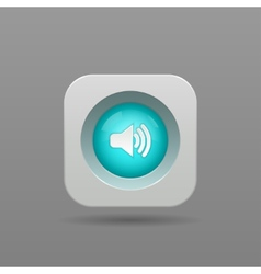 Speaker button vector image vector image