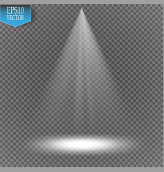 Spotlight on transparent background light vector