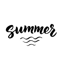 Summer hand drawn brush lettering vector image vector image