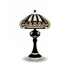 Vintage baroque classic lamp vector