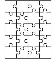 White puzzle 8 vector