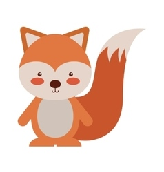 Woodland chipmunk animal character cute icon vector