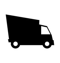 cargo truck vehicle silhouette vector image