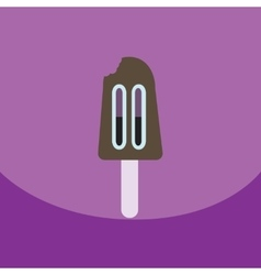 Flat icon design collection ice cream vector