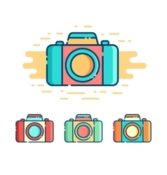 Photo camera logo vector