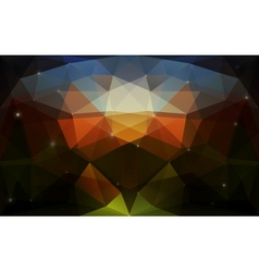 Triangular colorful dark texture vector