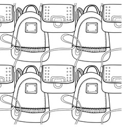 Fashion women handbag for coloring book black and vector