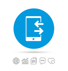 Incoming and outcoming calls sign icon vector
