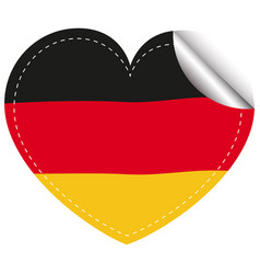 Sticker design for flag of germany vector