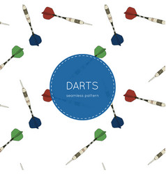 set of darts seamless pattern vector image