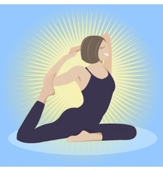 Woman doing yoga practice vector