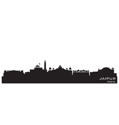 Jaipur india skyline detailed silhouette vector