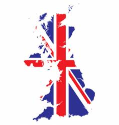 british flag and map vector image