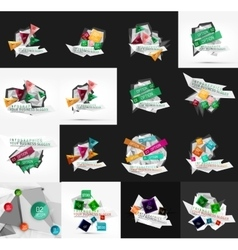 Set of light paper design option infographic vector