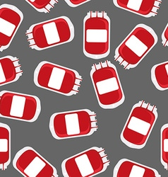 Blood bag seamless pattern blood transfusion vector