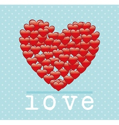 Romantic love design vector
