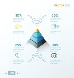 Pyramid infographic design arrow draw design vector