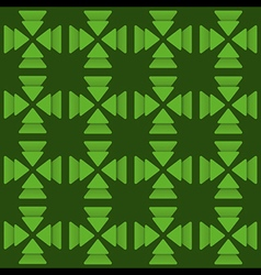 creative green triangle design pattern vector image