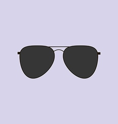 Aviator glasses icon vector