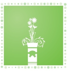 Flowers in a vase vector image