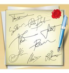 Signatures vector