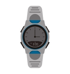 Modern analog watch icon vector