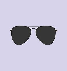 Aviator glasses icon vector
