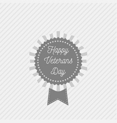 Banner template with happy veterans day text vector