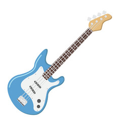 bass guitar flat icon music and instrument vector image vector image