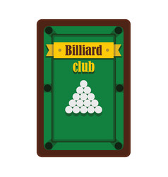 billiard club emblem in flat style vector image vector image