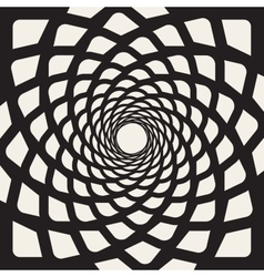Black And White Rounded Lines Spiral Shape vector image vector image