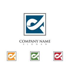Business corporate abstract unity logo design vector