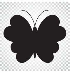 Butterfly icon silhouette of a butterfly simple vector