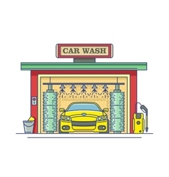 Car wash station vector image vector image