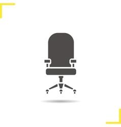 Computer chair icon vector