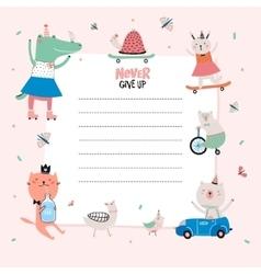 Cute calendar daily planner template vector