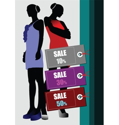 fashion sale poster vector image
