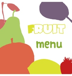 Fruits menu design template Healthy food vector image vector image