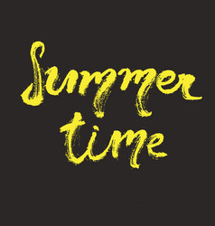 Hand drawn lettering - summer time vector