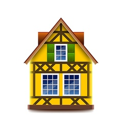 House in bavarian style isolated on white vector image vector image
