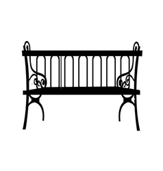 Icon bench vector