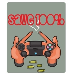 joystick for game in video games vector image vector image