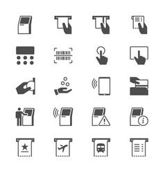 kiosk flat icons vector image