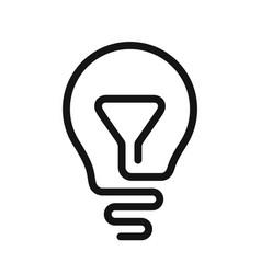 light bulb line idea icon vector image vector image
