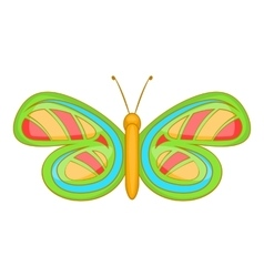 Little butterfly icon cartoon style vector