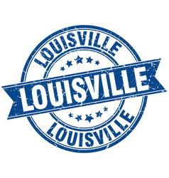 Louisville blue round grunge vintage ribbon stamp vector