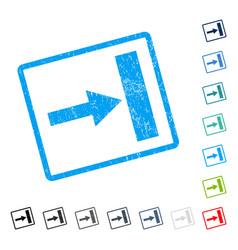Move right icon rubber watermark vector