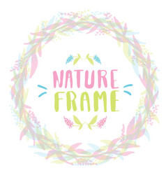 Nature frame for your design with flowers vector